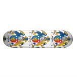 English Family Crest Custom Skateboard