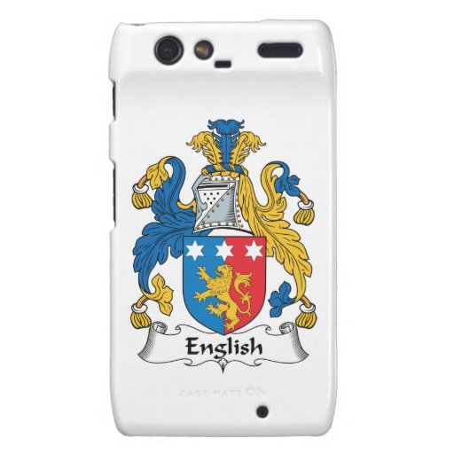 English Family Crest Droid RAZR Covers