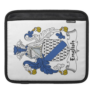 English Family Crest Sleeves For iPads
