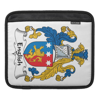 English Family Crest iPad Sleeves
