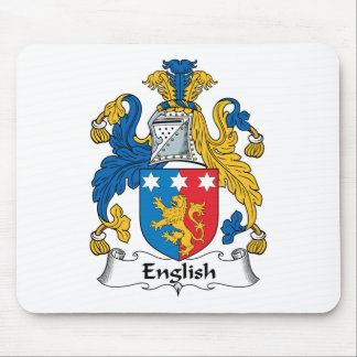 English Family Crest Mouse Pad