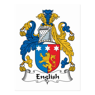 English Family Crest Postcard
