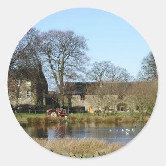 English farmhouse classic round sticker