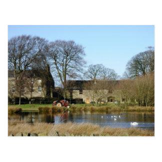 English farmhouse postcard