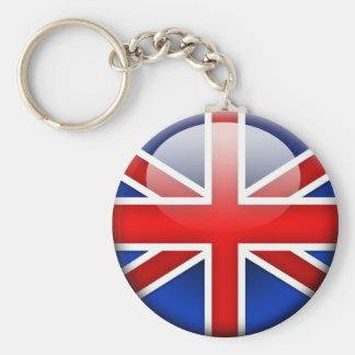 English Flag 2.0 Basic Round Button Keychain