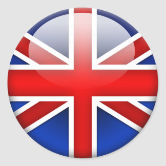 English Flag 2 0 Round Stickers