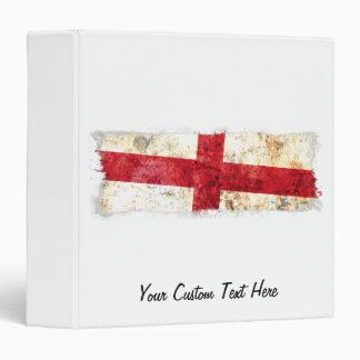 English Flag 3 Ring Binder