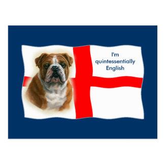 English flag and bulldog Postcard