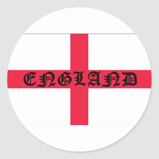English Flag Classic Round Sticker