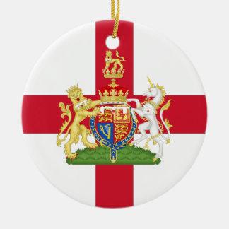 English Flag Coat of Arms Royal Wedding Ornament