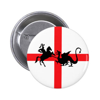 English flag George and the Dragon Button