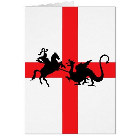 English flag George and the Dragon Card