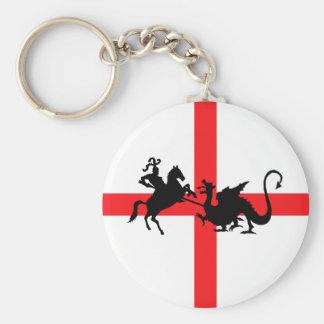 English flag George and the Dragon Keychain