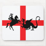 English flag George and the Dragon Mousepad