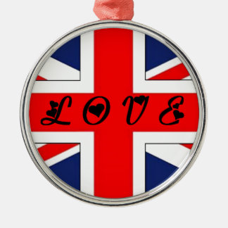 ENGLISH FLAG LOVE.png Metal Ornament