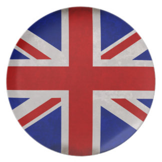 English flag of England textured Melamine Plate