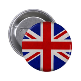 English flag of England textured Pinback Button