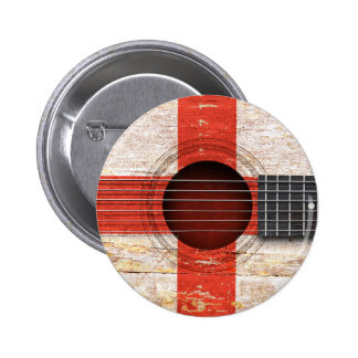 English Flag on Old Acoustic Guitar Pins