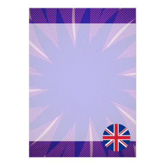 English Flag Souvenir Card