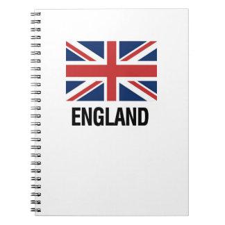 English Flag Spiral Notebook