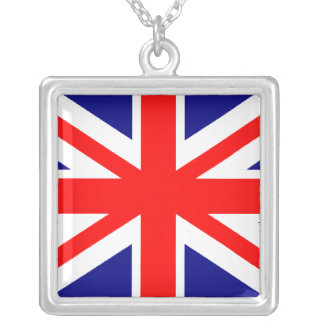 English Flag Square Pendant Necklace