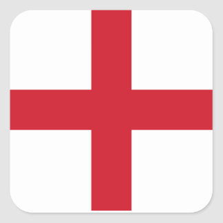 English flag square sticker