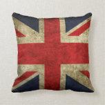 English flag throw pillows