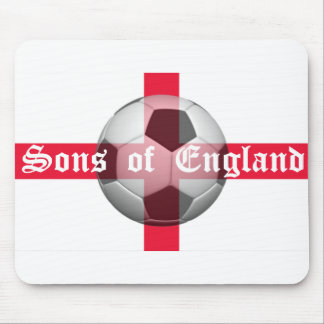 """English Flag with """"Sons of England"""" and Football Mouse Pad"""