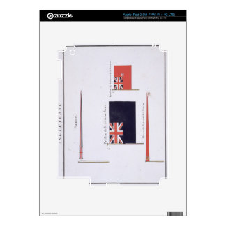 English Flags, from a French book of Flags, c.1819 iPad 3 Decal
