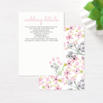 English Floral Garden Wedding cards