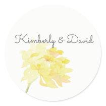 English Floral Garden Wedding Classic Round Sticker