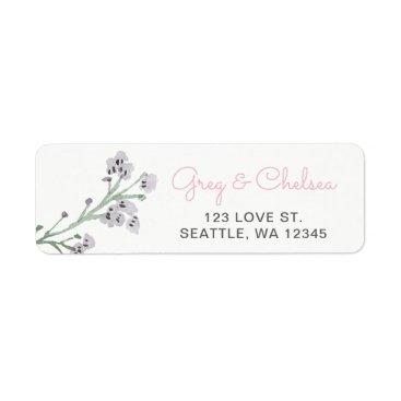 English Floral Garden Wedding Label