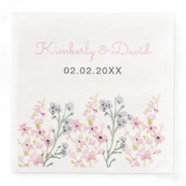 English Floral Garden Wedding Paper Dinner Napkin