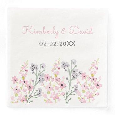 English Floral Garden Wedding Paper Dinner Napkin