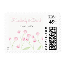 English Floral Garden Wedding postage