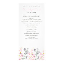 English Floral Garden Wedding Programs