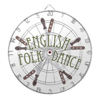 English Folk Dance Dartboard With Darts