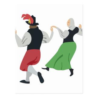 English Folk Dance Postcard