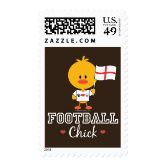 English Football Soccer Chick Stamps