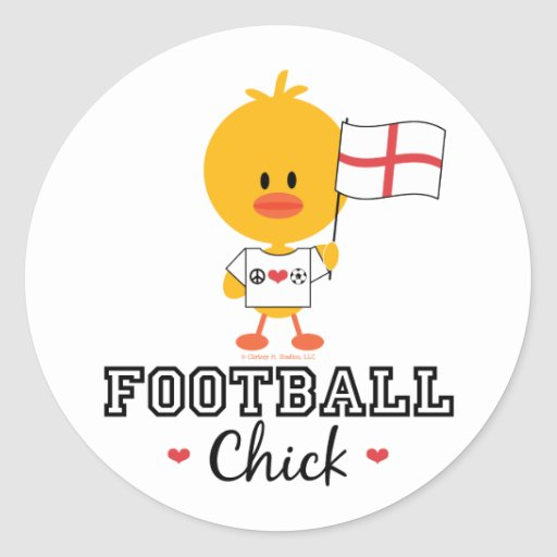 English Football Soccer Chick Stickers