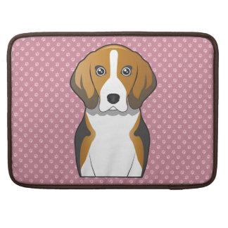English Foxhound Cartoon Sleeve For MacBooks