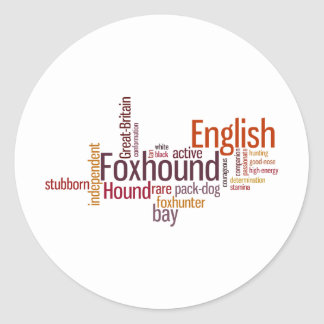 English Foxhound Classic Round Sticker