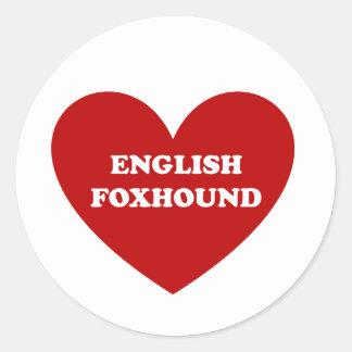 English Foxhound Classic Round Sticker