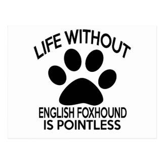 ENGLISH FOXHOUND DESIGNS POSTCARD
