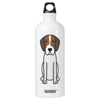 English Foxhound Dog Cartoon Aluminum Water Bottle
