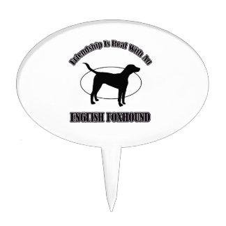 english foxhound DOG DESIGNS Cake Picks