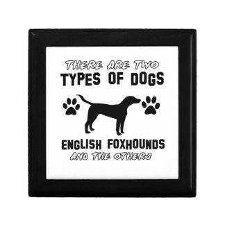 English Foxhound dog designs Jewelry Box