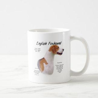 English Foxhound History Design Coffee Mug