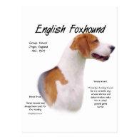 English Foxhound History Design Post Card