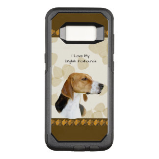 English Foxhound on Tan Leaves & Brown Pawprints OtterBox Commuter Samsung Galaxy S8 Case